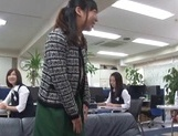 Kinky office lady gets banged by a group of guys in a conference room picture 14