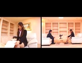 Ai Sayama naughty Asian office lady knows how to get a raise picture 14