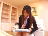Ai Sayama naughty Asian office lady knows how to get a raise picture 2