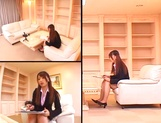 Ai Sayama naughty Asian office lady knows how to get a raise picture 3