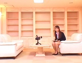 Ai Sayama naughty Asian office lady knows how to get a raise picture 9