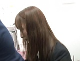Fuyutsuki Kaede enjoys doggy fuck in office picture 9