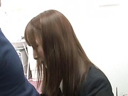 Fuyutsuki Kaede enjoys doggy fuck in office