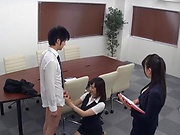 Stunning Japanese office lady fucked hard