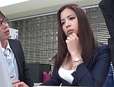 Sexy milf Mukai Ren gets nailed at the office picture 13