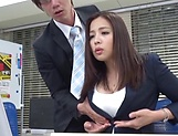 Sexy milf Mukai Ren gets nailed at the office picture 14