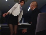 Nanami Kawakami Asian office lady entices a cumshot picture 10