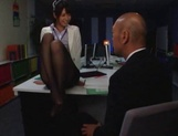 Nanami Kawakami Asian office lady entices a cumshot picture 11