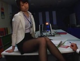Nanami Kawakami Asian office lady entices a cumshot picture 14
