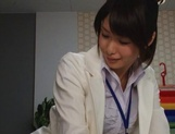 Nanami Kawakami Asian office lady entices a cumshot picture 6