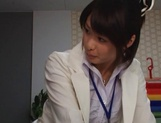 Nanami Kawakami Asian office lady entices a cumshot picture 7