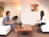 Japanese office lady gets position 69 in interview for job picture 11