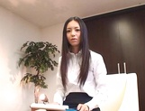 Japanese office lady gets position 69 in interview for job