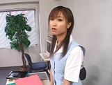 Lucky stud gets fucked by Japanese AV models at work picture 2