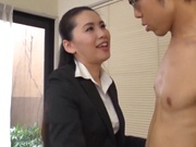 Sleazy office girl enjoys getting nailed in office