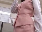 Rino Kamiya Asian office lady gets banged during break picture 11