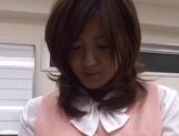 Rino Kamiya Asian office lady gets banged during break picture 14