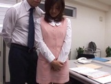 Rino Kamiya Asian office lady gets banged during break picture 15