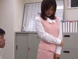 Rino Kamiya Asian office lady gets banged during break picture 8