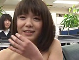 Japanese AV model gets amazing group fuck action picture 4