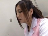 Unsatisfied office lady Yuna Shiina masturbates her pussy at work picture 12