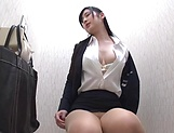 Hot babe Seino Iroha masturbates on the office toilet picture 13