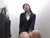 Hot babe Seino Iroha masturbates on the office toilet