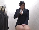 Hot babe Seino Iroha masturbates on the office toilet picture 6