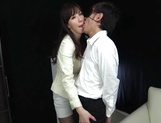 Naughty office lady begs for a hot fuck