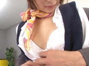 Sexy office hardcore with tight Nanami Kawakami