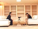 Ai Sayama Japanese office lady gets hot tit fuck picture 12