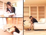 Ai Sayama Japanese office lady gets hot tit fuck picture 1