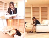 Ai Sayama Japanese office lady gets hot tit fuck picture 2