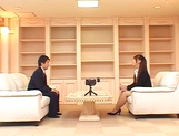 Ai Sayama Japanese office lady gets hot tit fuck picture 9
