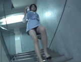 Japanese babes enjoying the same dick at the office