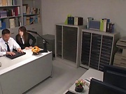Gorgeous babes get nailed in the office