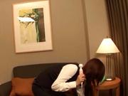 Japanese AV model gets laid with her boss for a raise