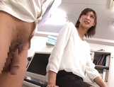 Ichika Kanhata naughty Asian milf is giving arousing blowjob picture 11