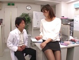 Ichika Kanhata naughty Asian milf is giving arousing blowjob picture 9