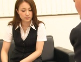 Asian office lady Rin Ayame gets licked and fucked in harsh ways