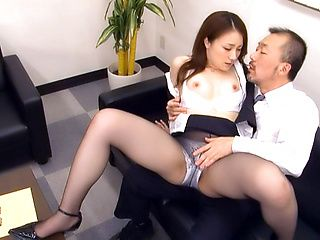 Rin Ayame Asian office lady gets rear fucking at work