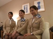 Sugary Asian working woman in fancy pantyhose shows her banging skills