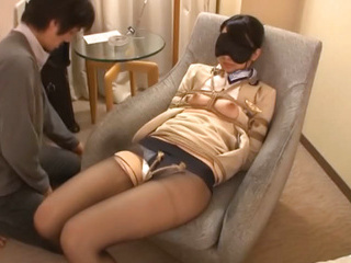 Hardcore BDSM action for some hot Japanese stweardesses