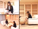 Hot busty office lady Ai Sayama fucked hard from behind picture 11