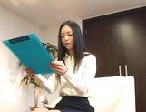 Skinny office secretary Aino Kishi seduces a handsome guy fucks him hard picture 12