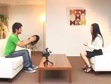 Skinny office secretary Aino Kishi seduces a handsome guy fucks him hard picture 13
