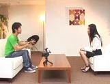 Skinny office secretary Aino Kishi seduces a handsome guy fucks him hard picture 14
