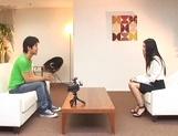 Skinny office secretary Aino Kishi seduces a handsome guy fucks him hard picture 15