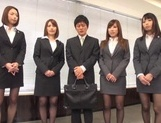 Riko Honda, Risa Kasumi and their colleagues in nasty gangbang picture 1