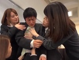 Riko Honda, Risa Kasumi and their colleagues in nasty gangbang picture 5
